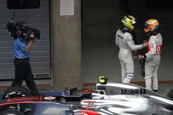 Lewis Hamilton, McLaren Mercedes and Nico Rosberg, Mercedes AMG F1