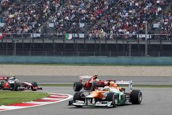 Paul di Resta, Sahara Force India leads Felipe Massa, Ferrari and Jenson Button, McLaren