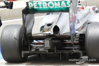 Michael Schumacher, Mercedes AMG F1 rear diffuser detail