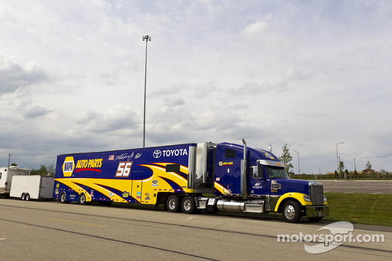 Martin Truex Jr.'s hauler