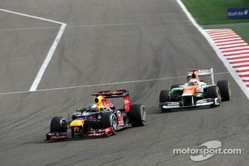 Sebastian Vettel, Red Bull Racing and Paul di Resta, Sahara Force India Formula One Team