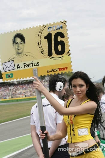 Grid girl of Augusto Farfus, BMW Team RBM BMW M3 DTM