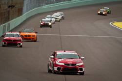 #10 Kinetic/Kia Racing KIA Forte Koup: Andy Lally, Nic Jonsson