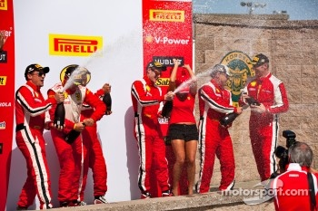 Race #1 Ferrari Challenge podium champagne celebration
