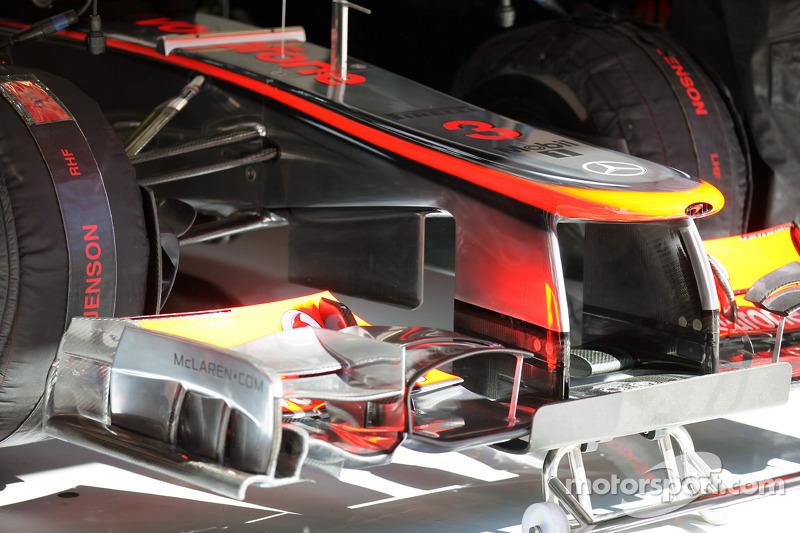 Front wing of Jenson Button, McLaren