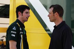 Alexander Rossi, Caterham F1 Test Driver with Alex Wurz