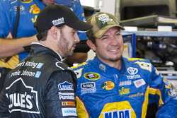 Jimmie Johnson, Hendricks Motorsports Chevrolet and Martin Truex Jr., Michael Waltrip Racing Toyota