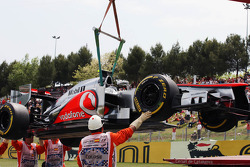The car of Lewis Hamilton, McLaren Mercedes after qualifying