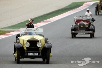 Pastor Maldonado, Williams on the drivers parade