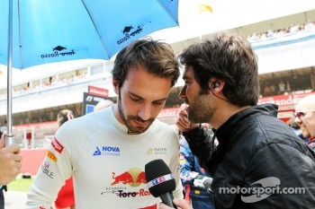 Jean-Eric Vergne, Scuderia Toro Rosso on the grid