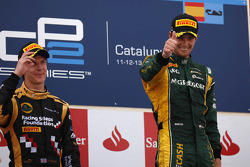Podium: race winner Giedo van der Garde, second place James Calado