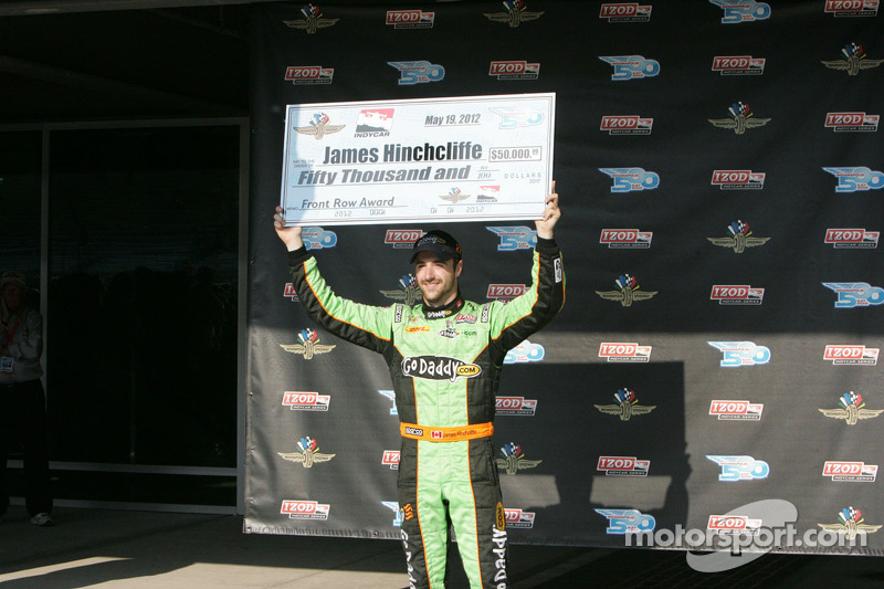 Second fastest James Hinchcliffe, Andretti Autosport Chevrolet