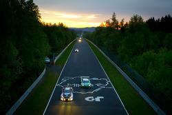 #83 Gazoo Racing Lexus LFA: Takayuki Kinoshita, Akira Iida, Juichi Wakisaka, #9 Raeder Motorsport Audi R8 LMS Ultra: Frank Biela, Christian Hohenadel, Luca Ludwig, Thomas Mutsch