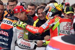 Casey Stoner, Repsol Honda Team and Valentino Rossi, Ducati Marlboro Team