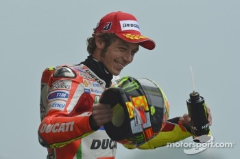 Podium: second place Valentino Rossi, Ducati Marlboro Team
