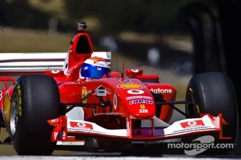 Marc Gene in Bud Moeller's Ferrari F2003-GA historic Formula 1 car