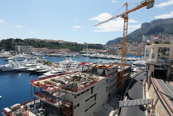 New Building in the Monaco Harbour exiting the tunnel