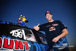 Travis Pastrana with his Dodge Dart Rally Cross car