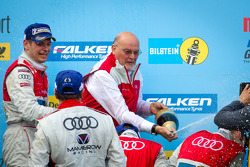 Podium: Quattro GmbH managing director Werner Frowein gets a champagne shower