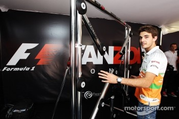 Jules Bianchi, Sahara Force India F1 Team Third Driver at the Fanzone