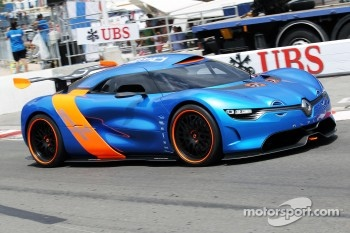 The Renault Alpine A110-50 Concept car is unveiled and runs on the circuit