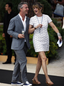 Eddie Irvine, with sister Sonia Irvine, at the Amber Lounge Fashion Show