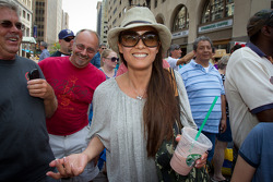Indy 500 festival parade: Kumiko Goto, wife of Jean Alesi