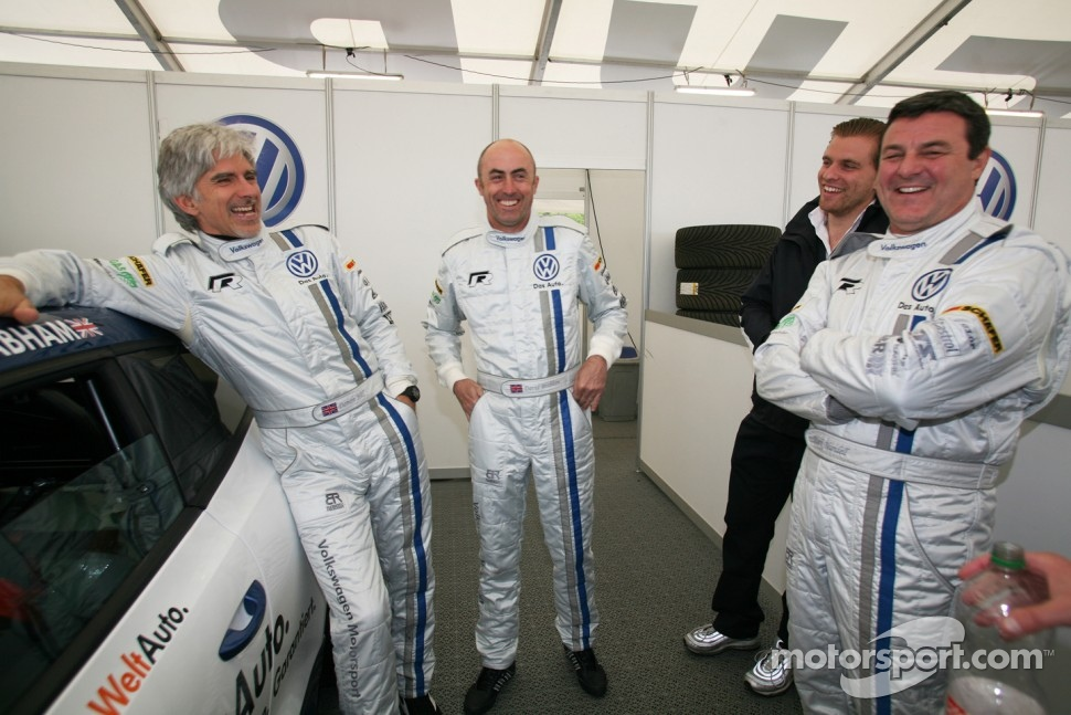 Damon Hill, David Brabham and Mark Blundell