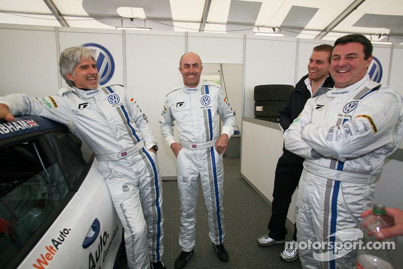Damon Hill, David Brabham and Mark Blundell