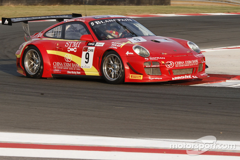 #9 Exim Bank Team China Porsche 911 GT3 R: Mike Parisy, Matt Halliday
