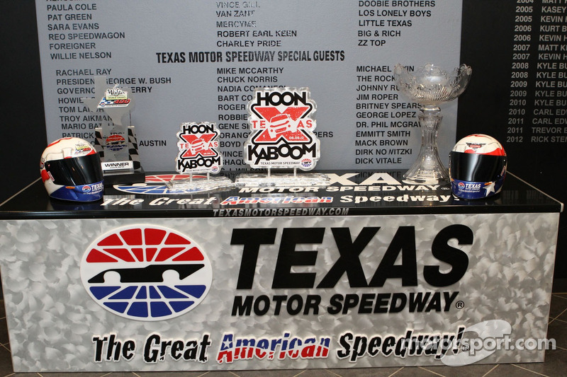 Trophies for the weekend at Texas Motor Speedway