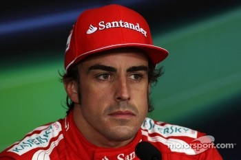 Fernando Alonso, Scuderia Ferrari in the post qualifying FIA Press Conference
