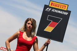 Grid girl, Michael Schumacher, Mercedes GP