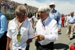 Mario Andretti, with Bernie Ecclestone, CEO Formula One Group