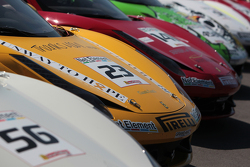 Alex Popow Ferrari of Ft Lauderdale 458TP, Jose Valera Ferrari of Ft Lauderdale 458CS, John Baker Ferrari of San Francisco