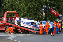 #8 Toyota Racing Toyota TS 030 - Hybrid after the crash