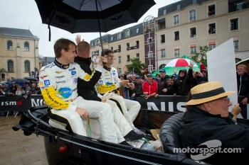 Antonio Garcia, Jan Magnussen and Jordan Taylor
