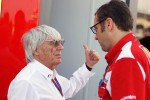 Bernie Ecclestone, CEO Formula One Group, with Stefano Domenicali, Ferrari General Director