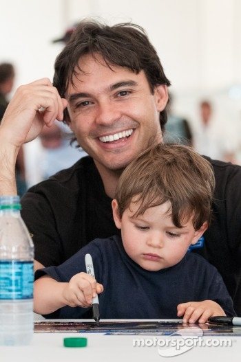 Santiago Orjuela and his son