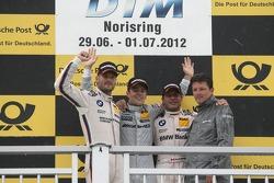 Podium, 2nd Martin Tomczyk, BMW Team RMG BMW M3 DTM, 1st Jamie Green, BMW Team Schnitzer BMW M3 DTM, 3rd Bruno Spengler, BMW Team Schnitzer BMW M3 DTM