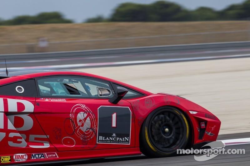 #1 Automobili Lamborghini: David Hallyday, Mario Fasanetto