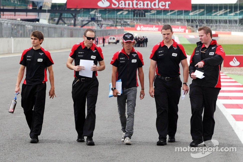 Charles Pic, Marussia F1 Team walks the circuit