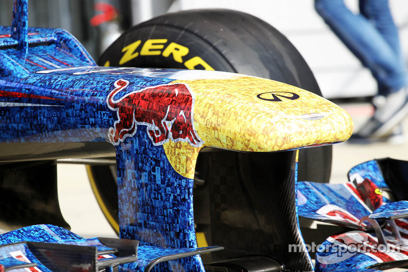 The Red Bull Racing RB8 with livery made up of 1000s images of fans