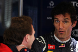 Christian Horner, Red Bull Racing Team Principal with Mark Webber, Red Bull Racing