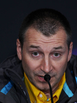 Rob White, Renault Deputy Managing Director, in the FIA Press Conference