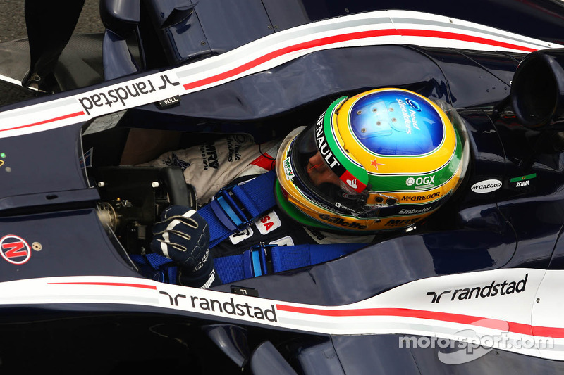 Bruno Senna Williams Wears A Star On His Helmet For Maria
