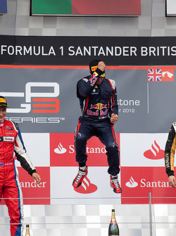 Podium: race winner Antonio Felix Da Costa