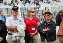 George Silvermann, NASCAR vice president of regional and touring series and Betty Jane France