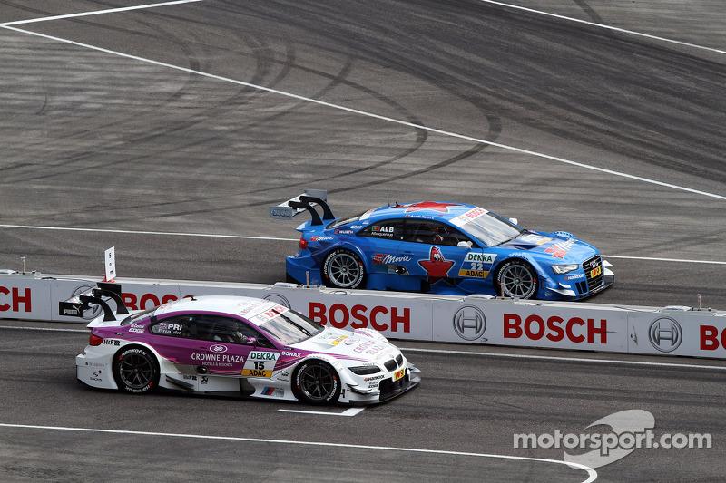 Sunday Round One Andy Priaulx, BMW Team RBM BMW M3 DTM against Filipe Albuquerque, Audi Sport Team Rosberg Audi A5 DTM