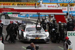 Semi Finals Jamie Green, Team HWA AMG Mercedes, AMG Mercedes against Bruno Spengler, BMW Team Schnitzer BMW M3 DTM pitstop
